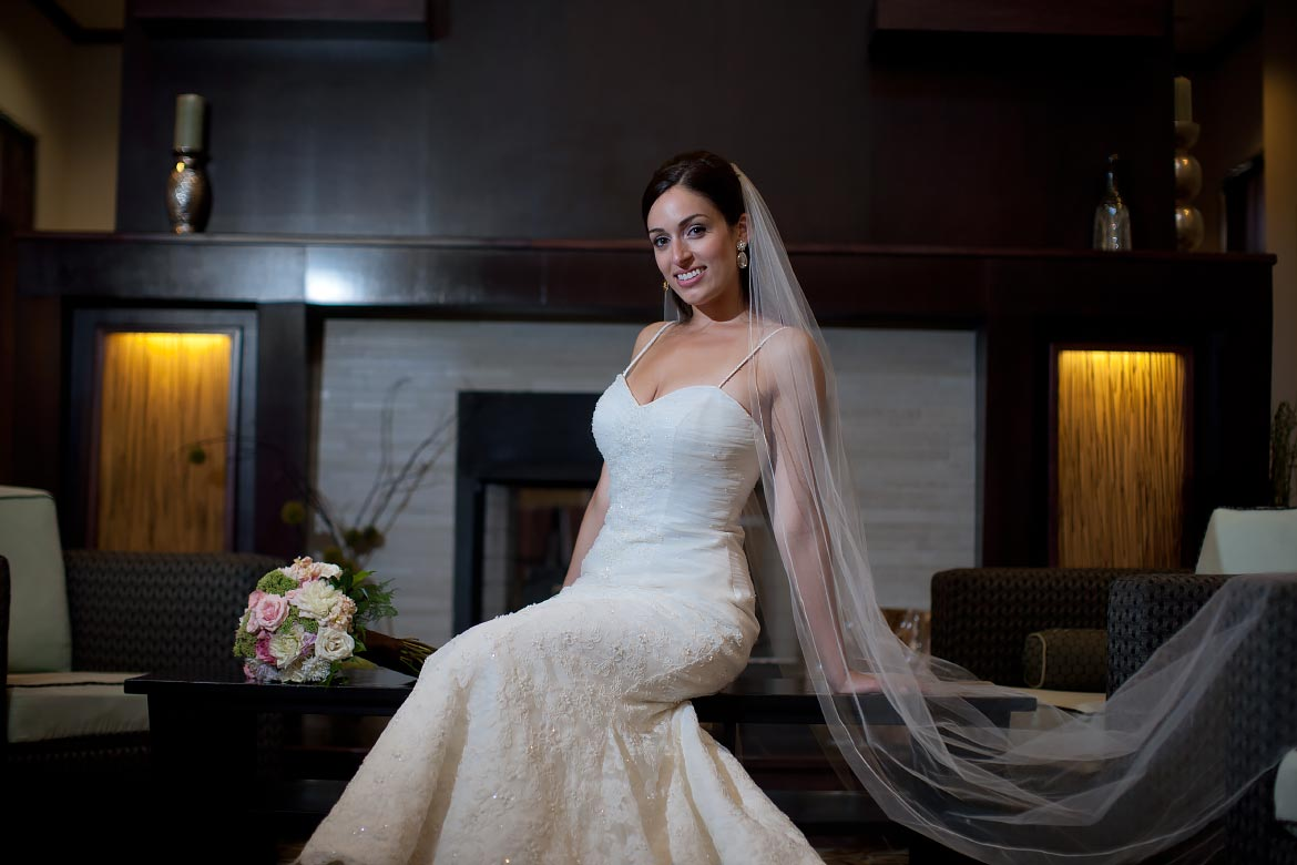 A Bride with Long Veil