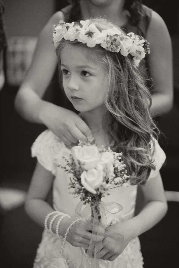 A Flowergirl with a Rose