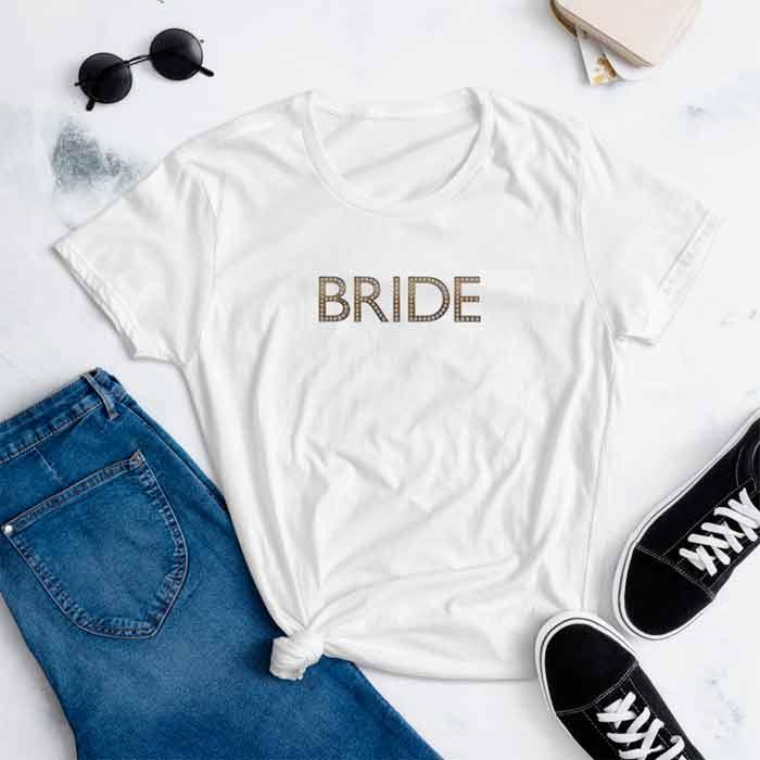 White Bride Bachelorette Party Tee