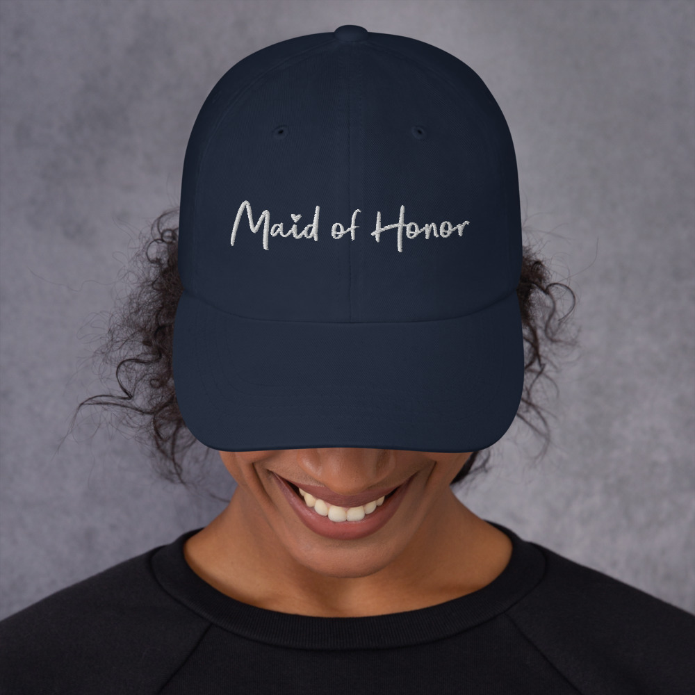 Navy Maid of Honor Bachelorette Party Hat