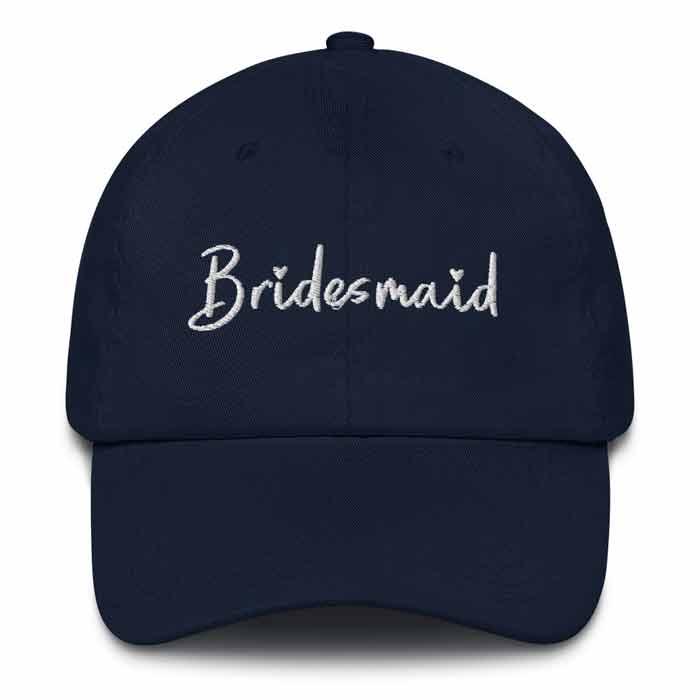 Navy Bridesmaid Bachelorette Party Hat