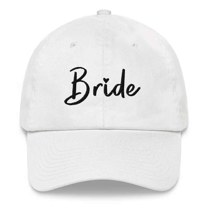White Bride Bachelorette Party Hat