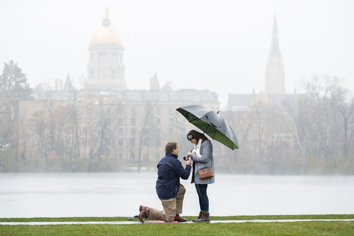 Engagement Proposal Photgraphy based in South Bend and Notre Dame Indiana